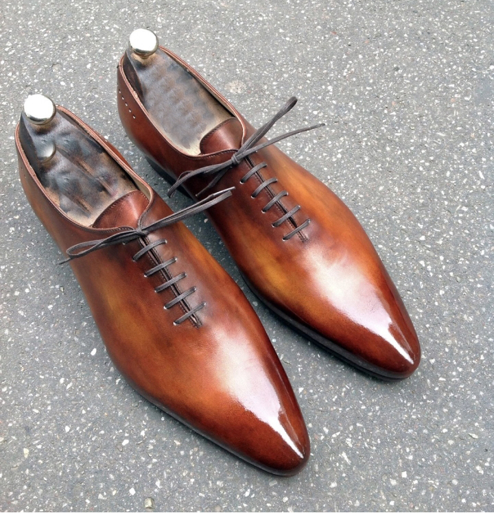 Handmade Mens Leather Lace Up Formal Shoes Sold at Bonanza