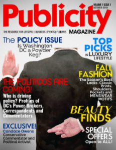 Publicity Magazine Print Edition is published 4 times annually and 5 times digitally at www.publicitymag.com