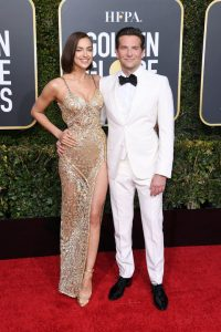Irina Shayk and Bradley Cooper attends the 76th Annual Golden Globe Awards at The Beverly Hilton Hotel on January 06, 2019 in Beverly Hills, California
