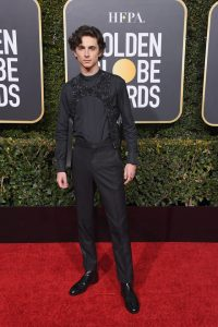 Timothee Chalamet attends the 76th Annual Golden Globe Awards